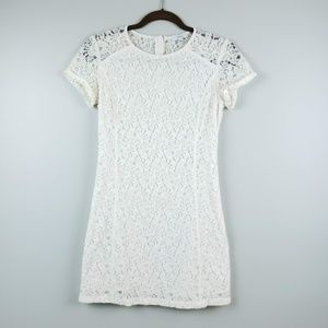 Aritzia Talula Lace Overlay Mini Dress SZ 2